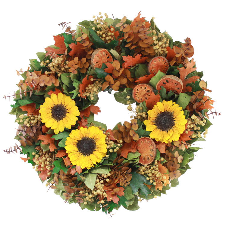 "18"" Autumn Is In The Air Wreath"